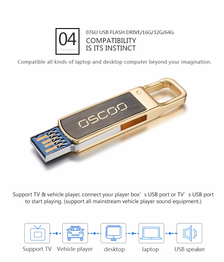 OSCOO USB3.0 high speed exquisite usb flash memory drive 32GB