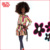 Fashion Africa doll with Afro hair style black skin