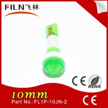 2015 waterproof plastic 6mm 230v neon led mi-bulb green digital position indicator
