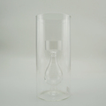 Cylinder Double Wall Glass Candle Holder For Tealight