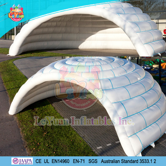 Durable inflatables igloo tent