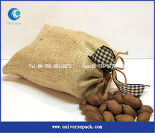 Natural jute bags for cashew nuts