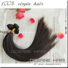 Good quality remy extension no tangle never shedding different types virgin peruvian human hair extension