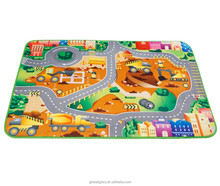 Luxury Soft Printed Kid and Baby Activity Carpet for bedroom playroom kid room living room