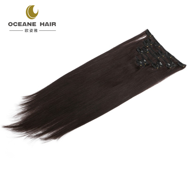 remy clip in hair extension 220 grams 100% human hair clip on hair extension