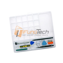 Smartphone Repair Kit Parts Tray Suction Cup Screwdriver Pry Bar Spudger Tweezer Opening Tool for iPhone 4/4S/5/5S/6/6S #BST-932