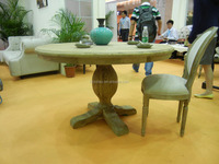Factory Direct America Country Style Granite Top Dining Table Set