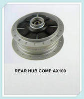 Lowest price, excellent motorcycle front and rear disc-brakes hub for AX100