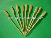 Disposable Easy Grip Bamboo Stick with Green Skin 12cm