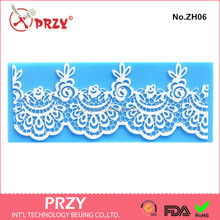 ZH006 Silicone cute flower cake lace Mat / Mold for Edible Sugar Lace