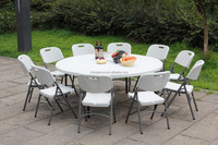 outdoor and indoor portable folding round table