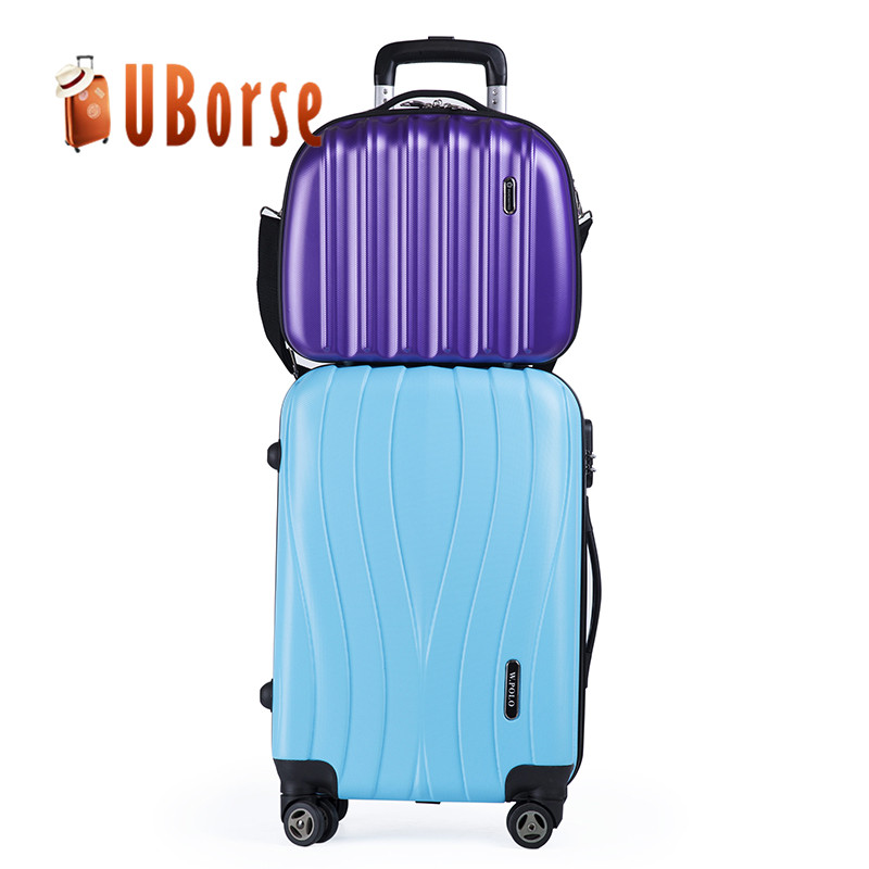 20 inch luggage travel bags, abs trolley luggage, 2pcs set luggage