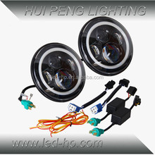 7 inch Round 60W High Low Beam JEEP LED Headlight with Halo