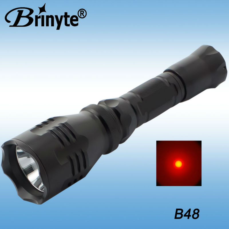 Aluminum <strong>CREE</strong> Q5 Red LED Hunting Flashlight