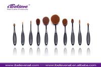 Comestics beauty face brushes natural hair professional makeup brush set