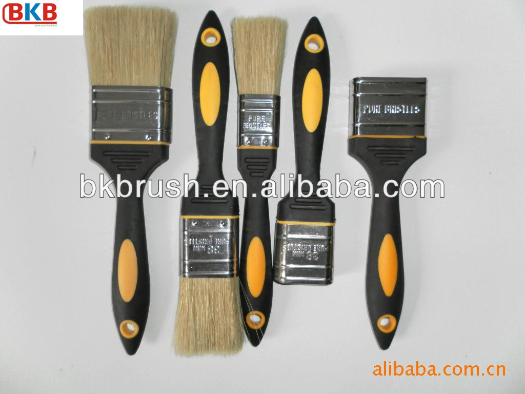 Different Size Plastic Handle Paint Brush Set Wholesale