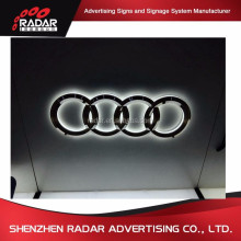 3D car logo auto emblem advertising outdoor metal sign manufacturer