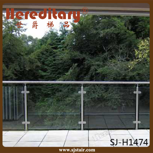 exterior tempered glass cheap deck railing/plexiglass deck railing