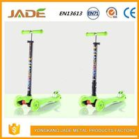 Foldable baby kids big wheel lighting learning balance kick mini scooter