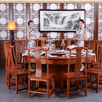 Chinese Unique and Valuable Antique Mahogany Wooden Furniture Dinning Table set with Chairs