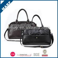 Trendy hot sell pu leather laptop leather bag
