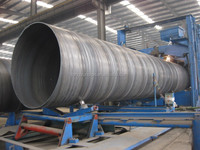 3 1/3 inch SSAW carbon steel spiral welded pipe gas and oiled pipe