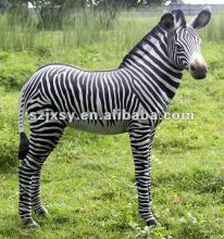 2012 Hot-selling Life Size Resin Horse Statues FRP Zebra Sculpture