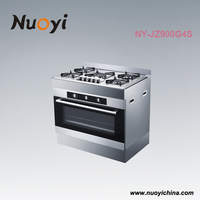Kitchen appliance,5 burner gas cooker stoves with powerful 85L electric oven