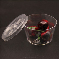 5oz disposable plastic clear bowl/ plastic salad bowl with dome lid