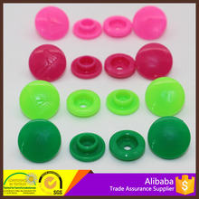 Best Sell ! KAM Glossy Garment Plastic Four Parts Snap Button