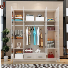 Customized size FR-MDF PD material wardrobe clothes hanging cabinet designs