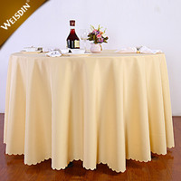 Custom cheap restaurant table linens polyester plain white wedding 120 round tablecloth