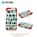 3D 2 in 1 Sublimation Case For iPhone5/5s