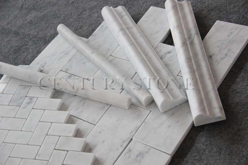 Italienisch bianco carrara mosaik fliesen wei en for Fliesen italienisch