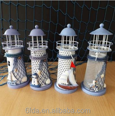 Graduated from the Mediterranean Sea beacon, wrought iron candlestick creative wedding souvenirs