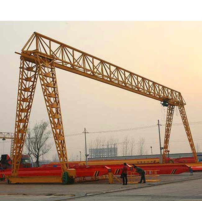 Light duty single girder electric hoist gantry crane with wind resistance