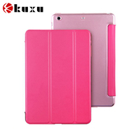 stand pu flip leather case with crown for ipad air case