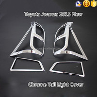 Chrome Tail Light Cover For Toyota Avanza 2015 New Chrome Tail Light Trim Toyota Avanza 2016 Chrome Car Accessories