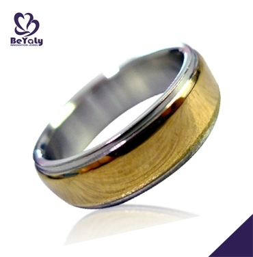 gold plated titanium stainless wedding bands wholesale 14k gold rings