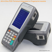 WAYPOTAT Banking usage handheld pos terminal with biometric fingerprint