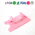 Factory reusable cheap ID card holder silicone card holder
