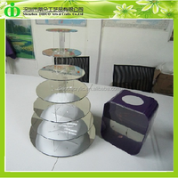DDC-0005 Trade Assurance Chinese Factory Wholesale Hot Sale 7 Tier Mirror Acrylic Cupcake Stand