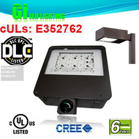 6 years warranty UL DLC Led Shoebox Light For Auto Dealerships