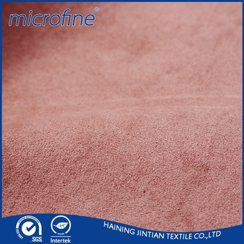 polyester waterproof suede fabric for garments and sofa