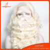 wholesale hot fashion santa claus wig and beard moustache eye blow ,lace front adjustable all color santa calus synthetic hair