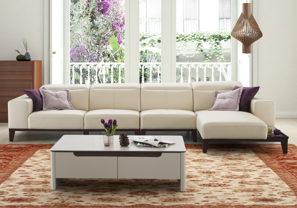 Modern latest living room wooden sofa sets design italian for Sofa set for small living room