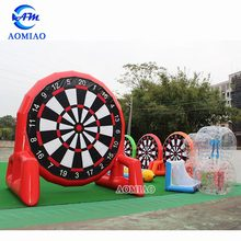 Inflatable soccer training dummy football target inflatable dart game/inflatable soccer darts