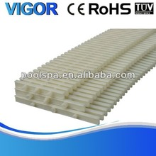 PP ABS material swimming pool overflow grating drain grating
