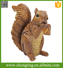 Modern outdoor garden Decor handmade Holding Nut Statue squirrel sculpture