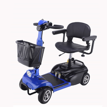 Adjustment folding four wheels 1 seat 24v 250w elderly adult electric mobility scooter for handicapped